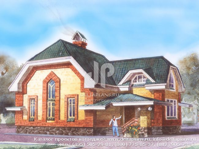 Деревянный дом. Проект № H-138-1D