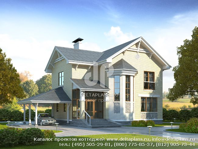 Пенобетонный дом. Проект № H-140-1P