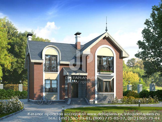 Пенобетонный дом. Проект № H-144-1P