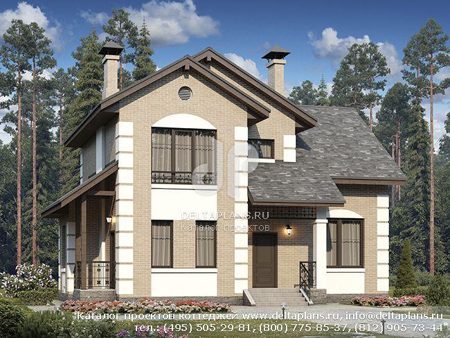 Проект дома 2 этажа № H-148-1P