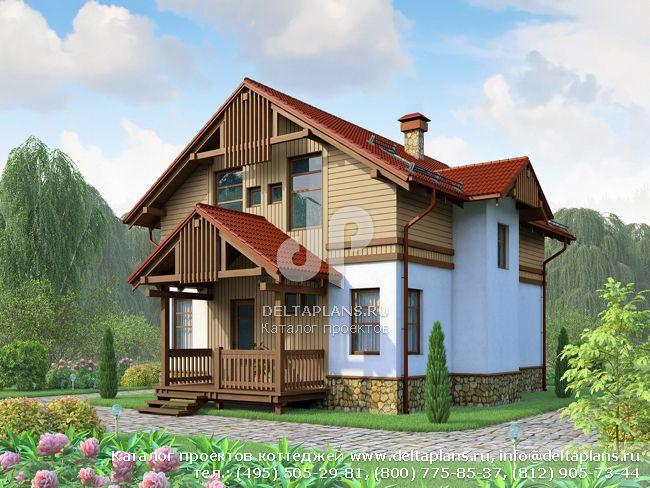 Каркасный дом. Проект № H-155-1S