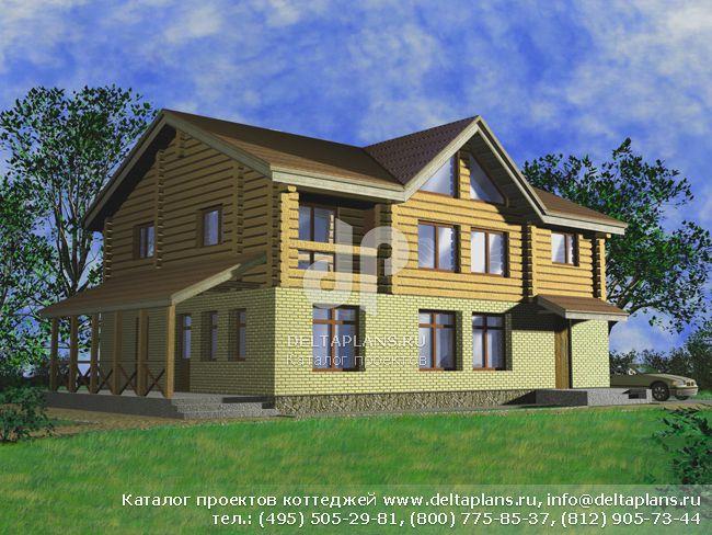 Деревянный дом. Проект № H-209-1D