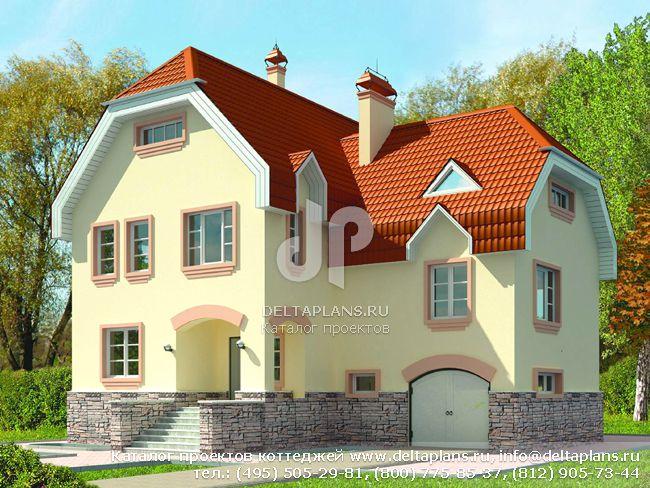 Пенобетонный дом. Проект № H-251-1P