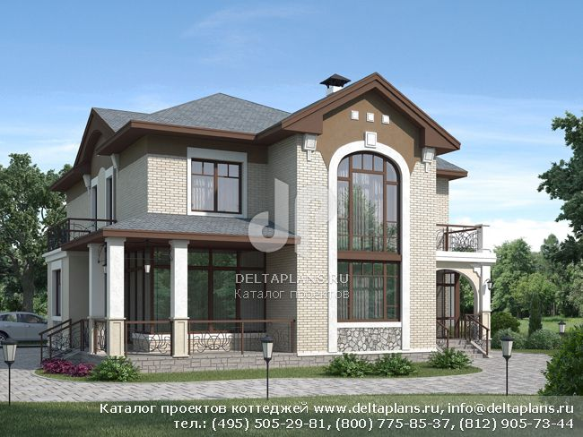 Пенобетонный дом. Проект № H-258-1P