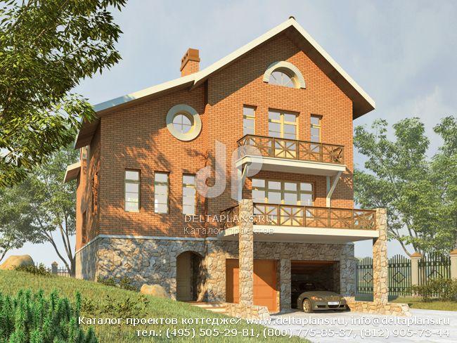 Кирпичный дом. Проект № H-276-1K