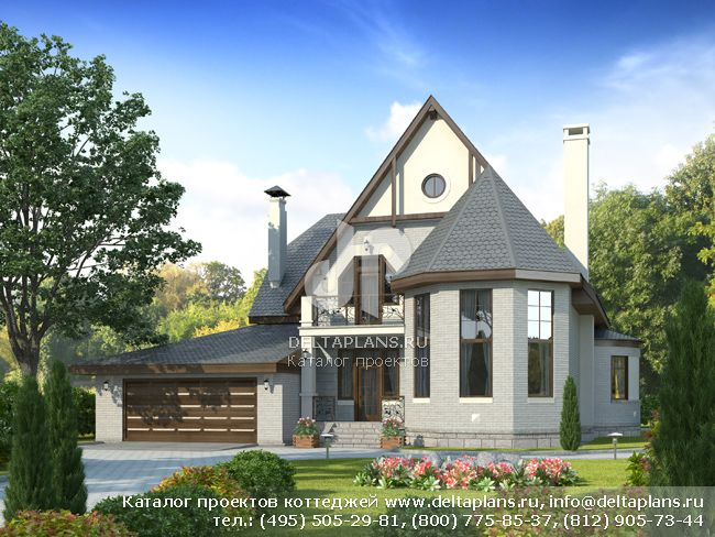 Пенобетонный дом. Проект № H-298-1P