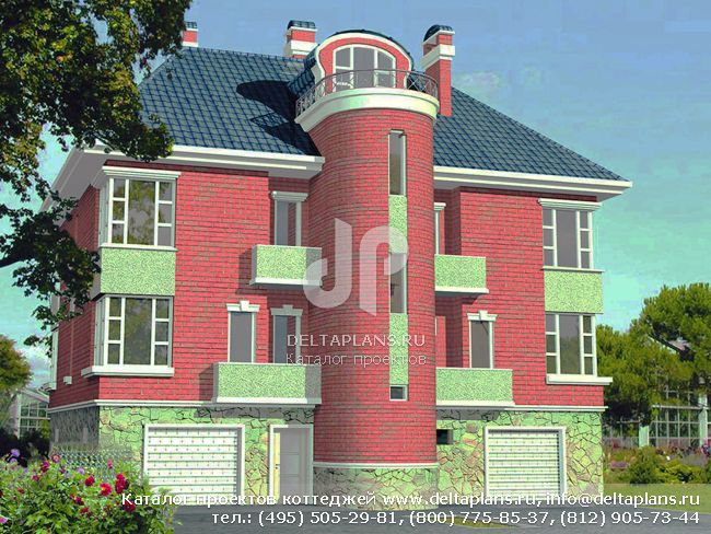 Пенобетонный дом. Проект № H-375-1P