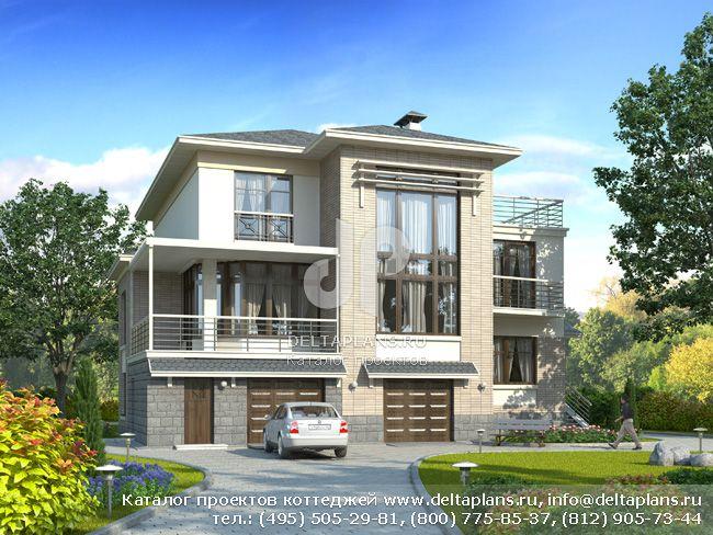 Пенобетонный дом. Проект № H-413-1P