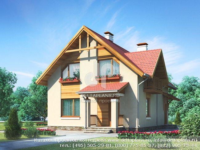 Пенобетонный дом. Проект № I-119-1P