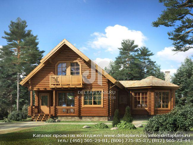 Деревянный дом. Проект № I-153-1D