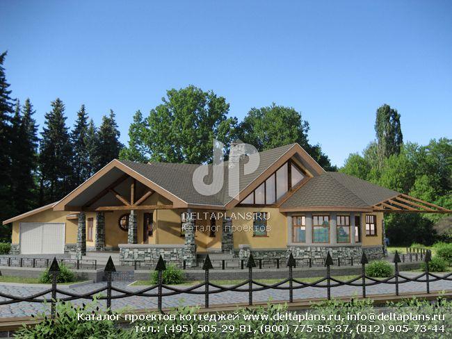 Пенобетонный дом. Проект № I-160-1P