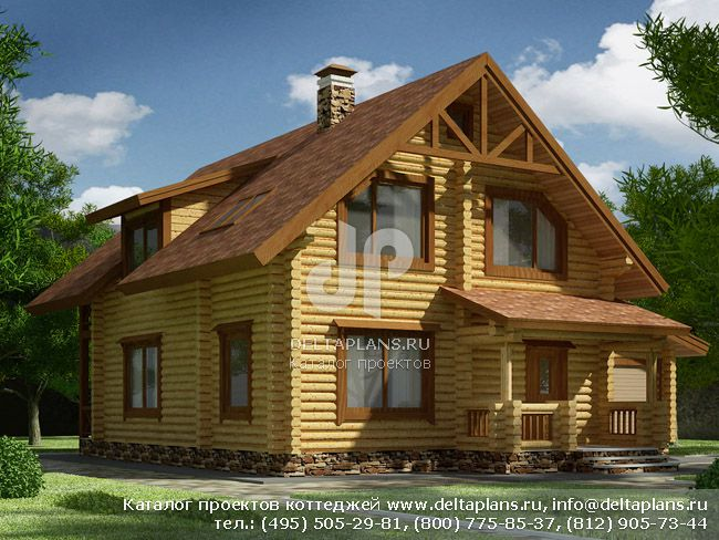 Деревянный дом. Проект № I-166-1D