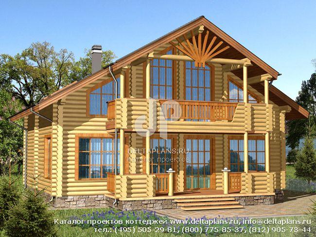 Деревянный дом. Проект № J-178-1D