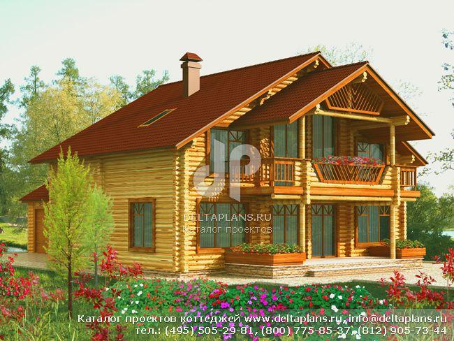 Деревянный дом. Проект № J-200-1D