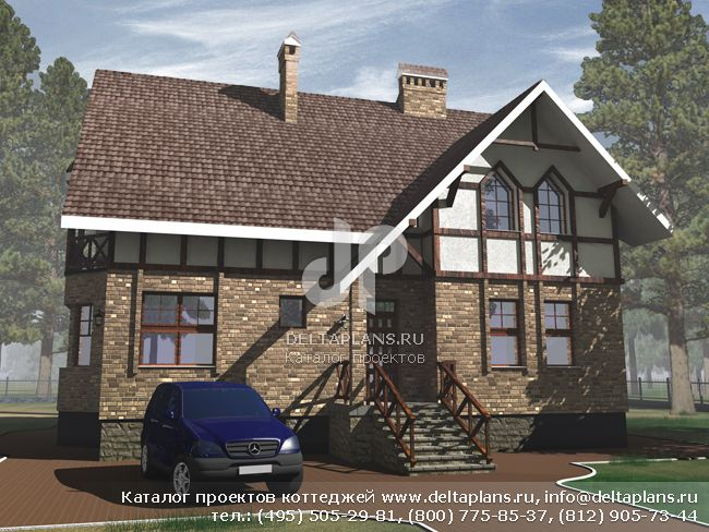 Кирпичный дом. Проект № J-256-1K