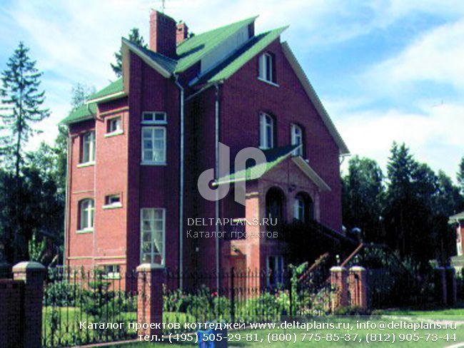 Кирпичный дом. Проект № J-281-1K