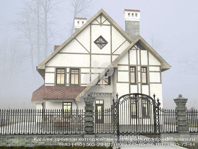 Кирпичный дом. Проект № J-287-1K