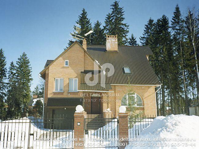 Кирпичный дом. Проект № J-323-1K