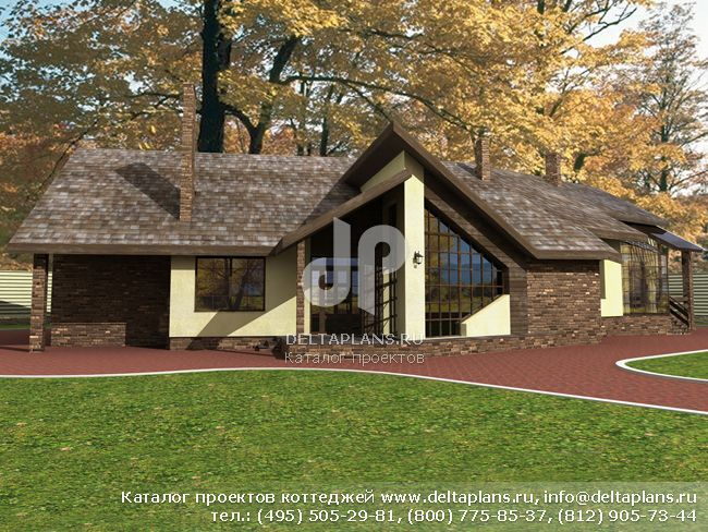 Кирпичный дом. Проект № J-328-1K