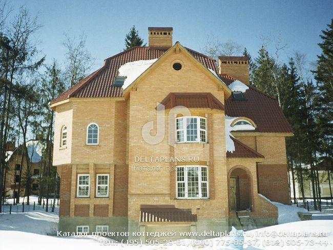 Кирпичный дом. Проект № J-336-1K