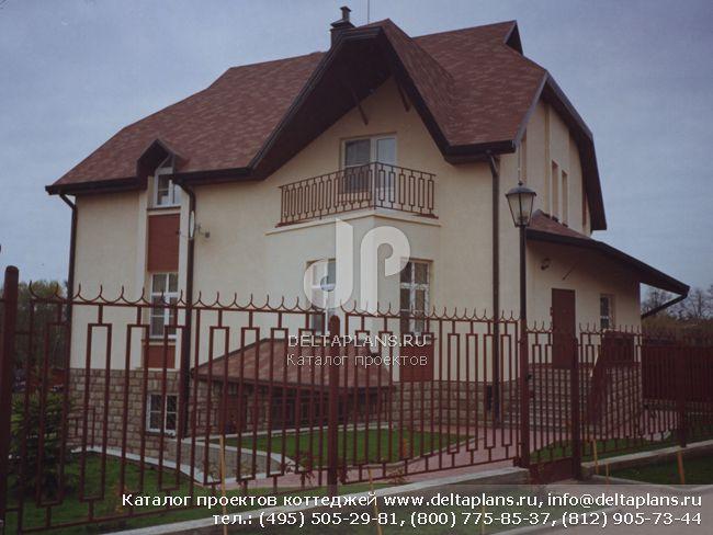 Кирпичный дом. Проект № J-357-1K