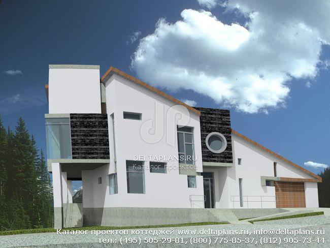 Кирпичный дом. Проект № J-409-1K