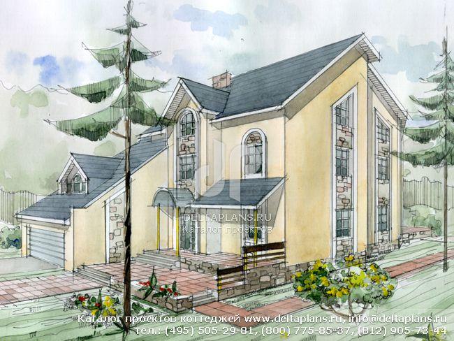 Кирпичный дом. Проект № J-462-1K
