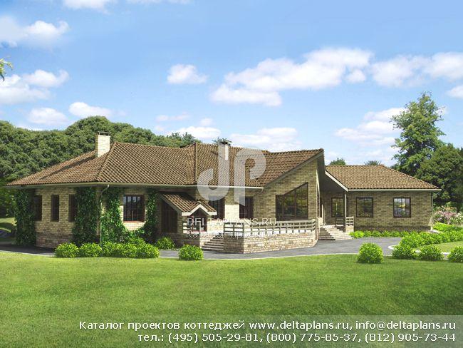 Кирпичный дом. Проект № J-507-1K