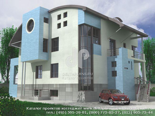 Кирпичный дом. Проект № J-520-1K