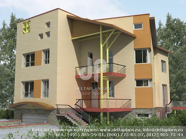 Кирпичный дом. Проект № J-526-1K