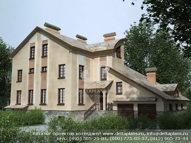 Кирпичный дом. Проект № J-577-1K