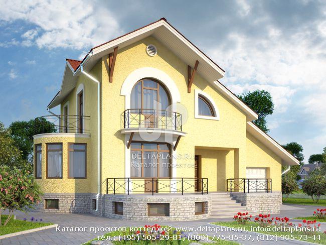 Пенобетонный дом. Проект № K-285-1P