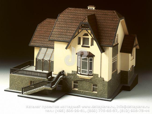 Кирпичный дом. Проект № K-398-1K