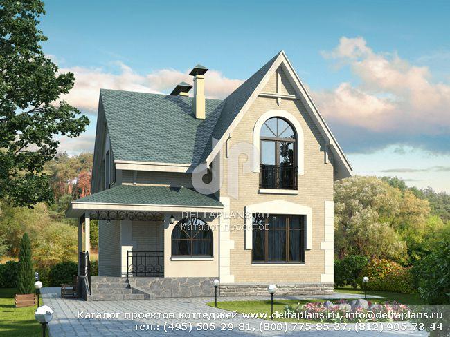 Пенобетонный дом. Проект № L-115-1P