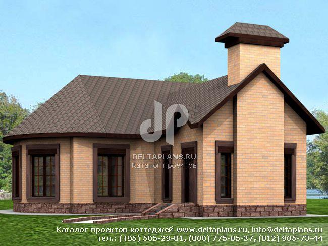 Кирпичный дом. Проект № L-259-1K