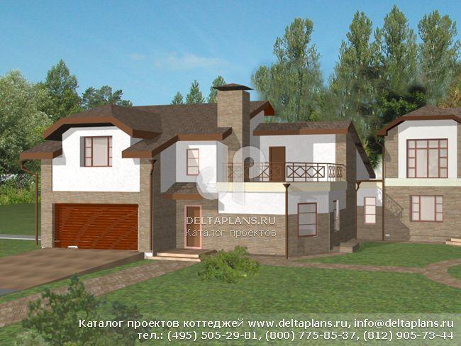 Кирпичный дом. Проект № L-451-1K
