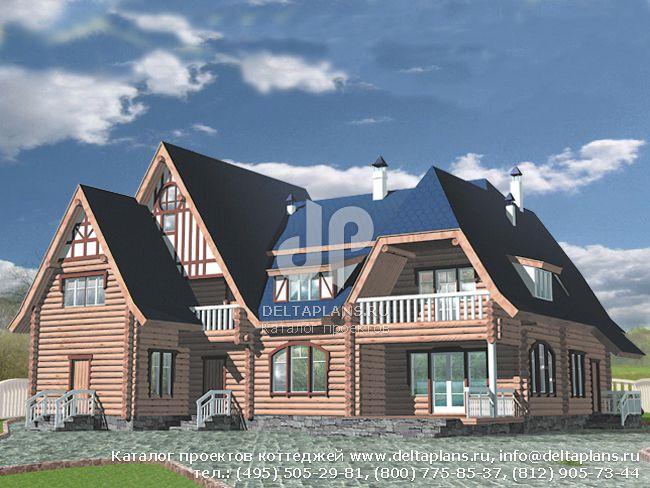 Деревянный дом. Проект № L-476-1D