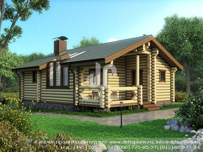 Деревянный дом. Проект № M-052-1D