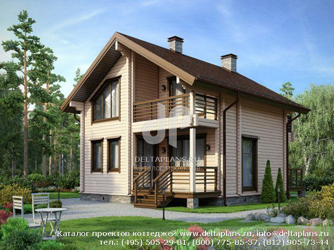 Деревянный дом. Проект № M-115-1D