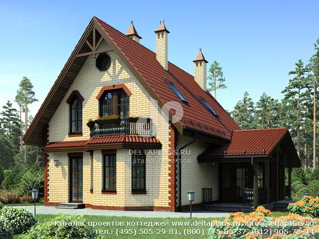 Пенобетонный дом. Проект № M-155-1P