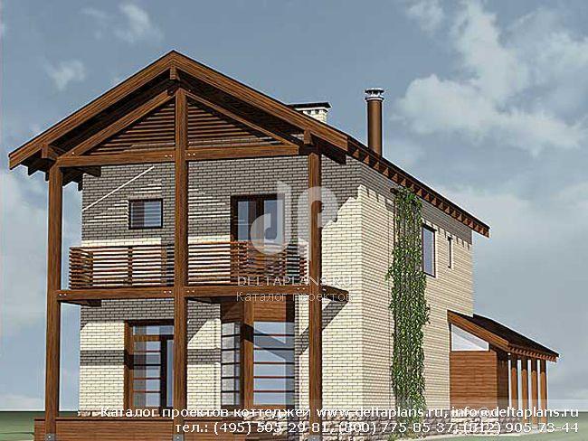 Кирпичный дом. Проект № M-161-1K