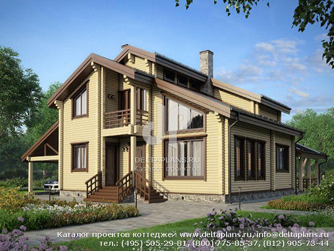 Деревянный дом. Проект № M-187-1D