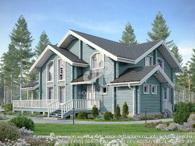 Деревянный дом. Проект № M-192-1D