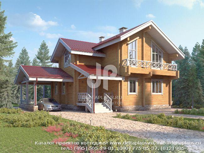 Деревянный дом. Проект № M-196-1D