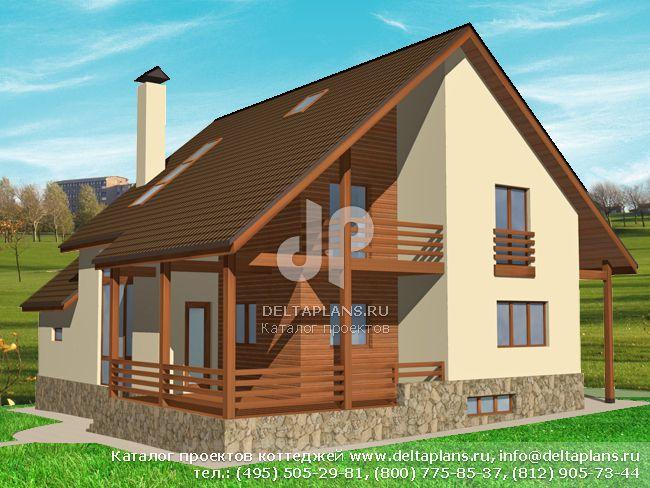 Кирпичный дом. Проект № M-206-1K