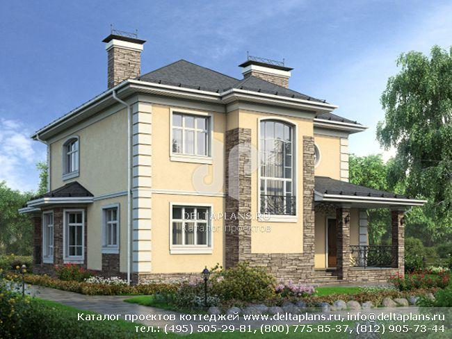 Кирпичный дом. Проект № M-207-1K