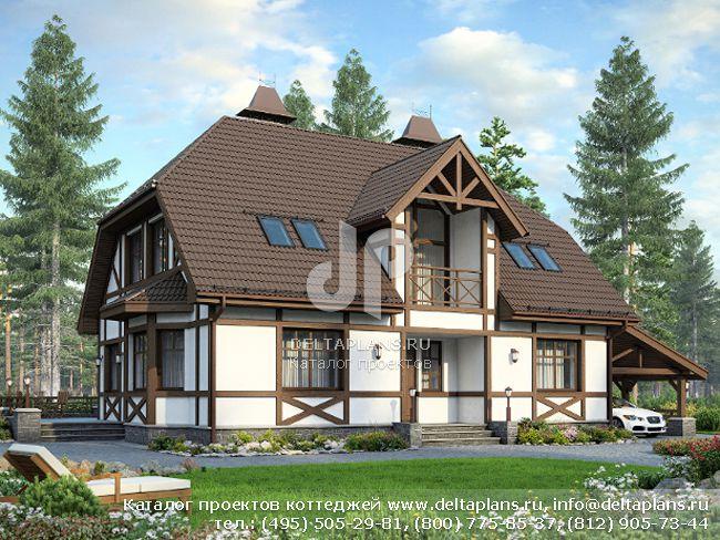 Пенобетонный дом. Проект № M-234-1P