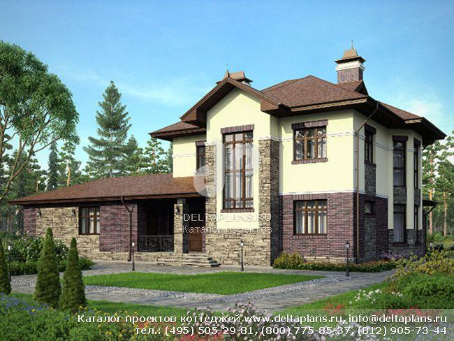 Кирпичный дом. Проект № M-242-1K