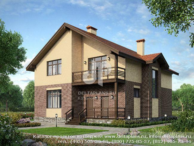 Пенобетонный дом. Проект № M-246-1P