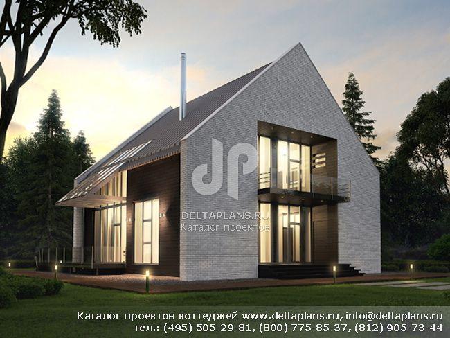 Современный дом с панорамными окнами № M-253-1K